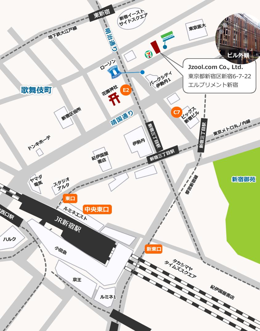 ジズードットコム本社地図